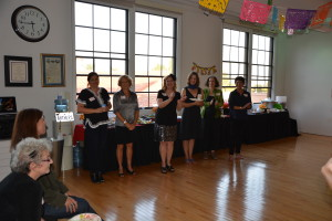 Dr. Essex and the Alumni Association Welcome party-goers